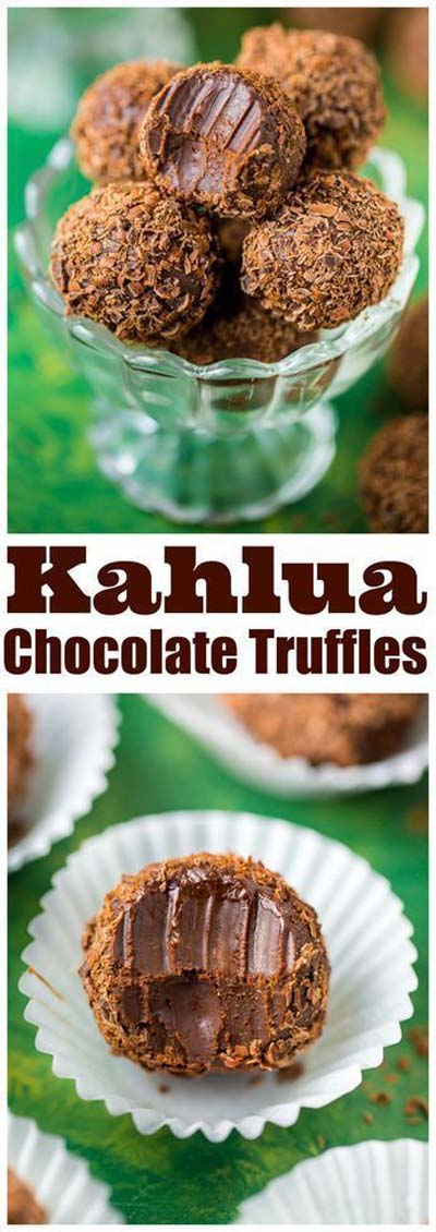 Truffle Dessert Recipes: Kahlua Chocolate Truffles