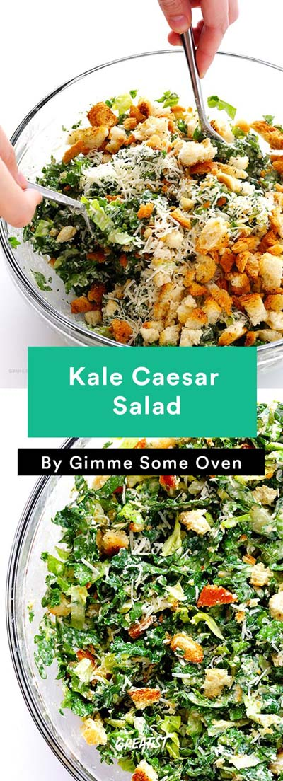 Healthy salad recipes: Kale Caesar Salad