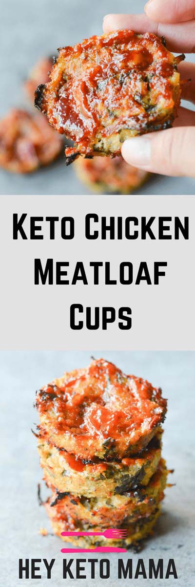Keto snacks on the go: Keto Chicken Meatloaf Cups