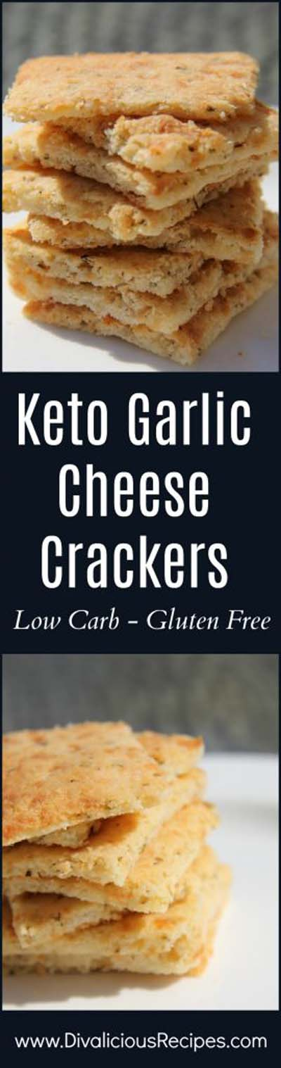 Keto snacks on the go: Keto Garlic Cheese Crackers
