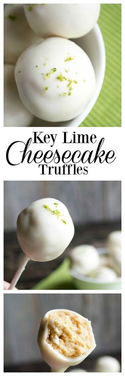 Truffle Dessert Recipes: Key Lime Cheesecake Truffles