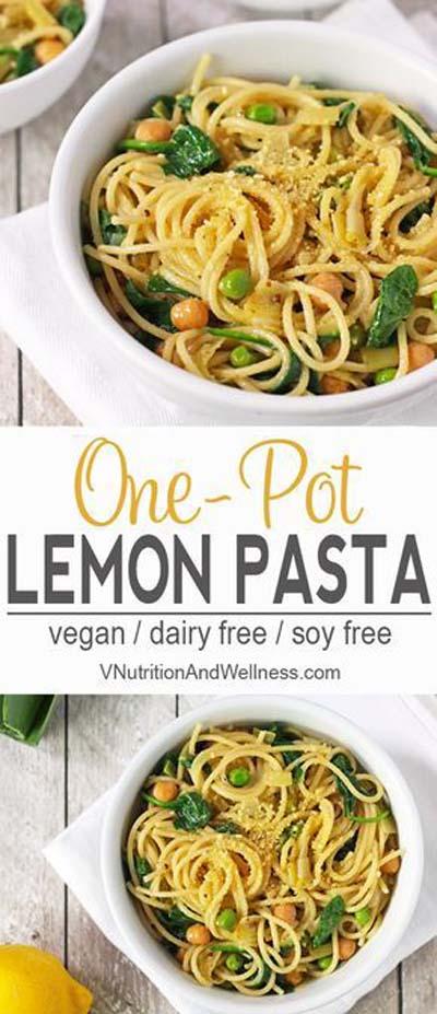 Vegan Pasta Recipes: Lemon One Pot Pasta