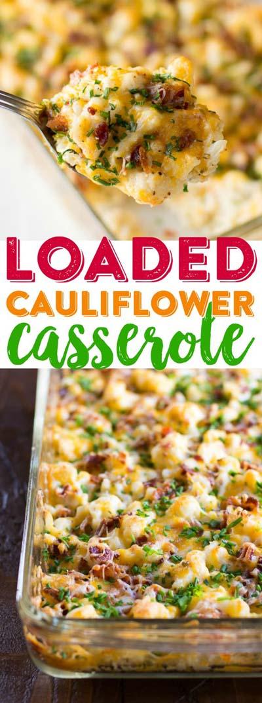 Keto Casserole Recipes: Loaded Cauliflower Casserole