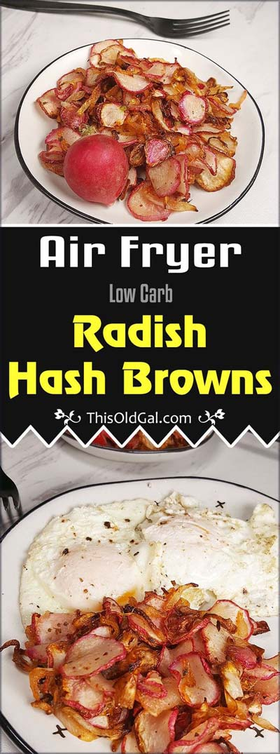 Healthy Air Fryer Recipes: Low Carb Air Fryer Radish Hash Browns