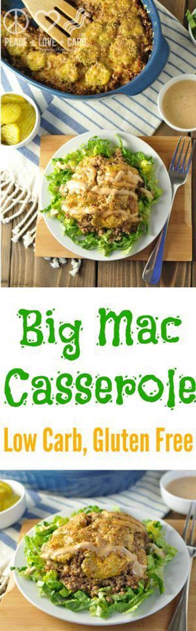 Keto Casserole Recipes: Low Carb Big Mac Casserole