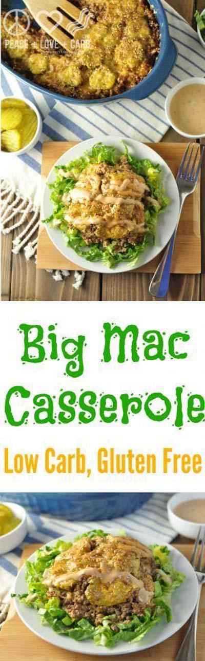 Keto Casserole Recipes: Low Carb Big Mac Casserole