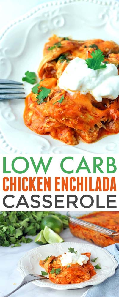 Keto Casserole Recipes: Low Carb Chicken Enchilada Casserole