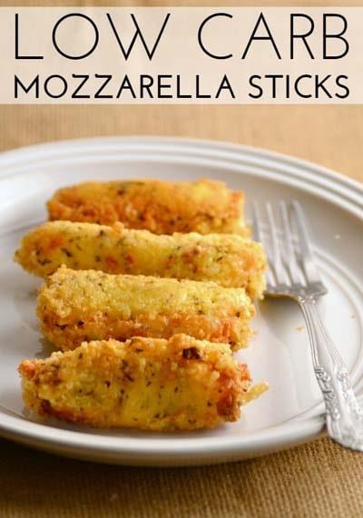 Keto snacks on the go: Low Carb Mozzarella Sticks