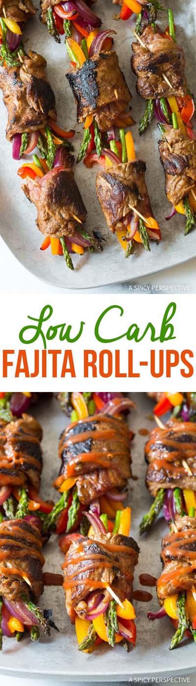 Keto snacks on the go: Low Carb Steak Fajita Roll-Ups