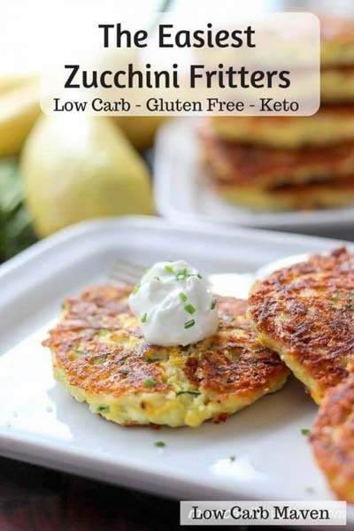 Keto snacks on the go: Low Carb Zucchini Fritters