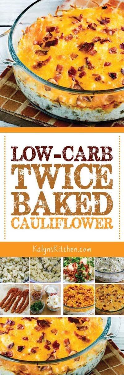 Keto Casserole Recipes: Low-carb Twice-baked Cauliflower