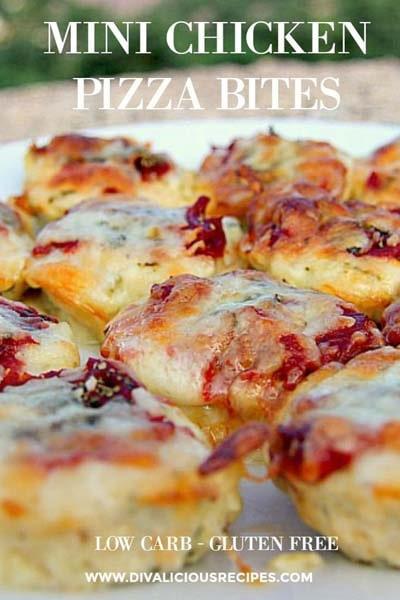 Keto snacks on the go: Mini Chicken Pizza Bites