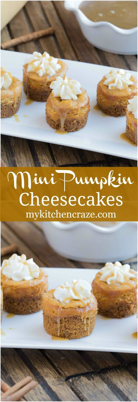 Thanksgiving Desserts: Mini Pumpkin Cheesecakes