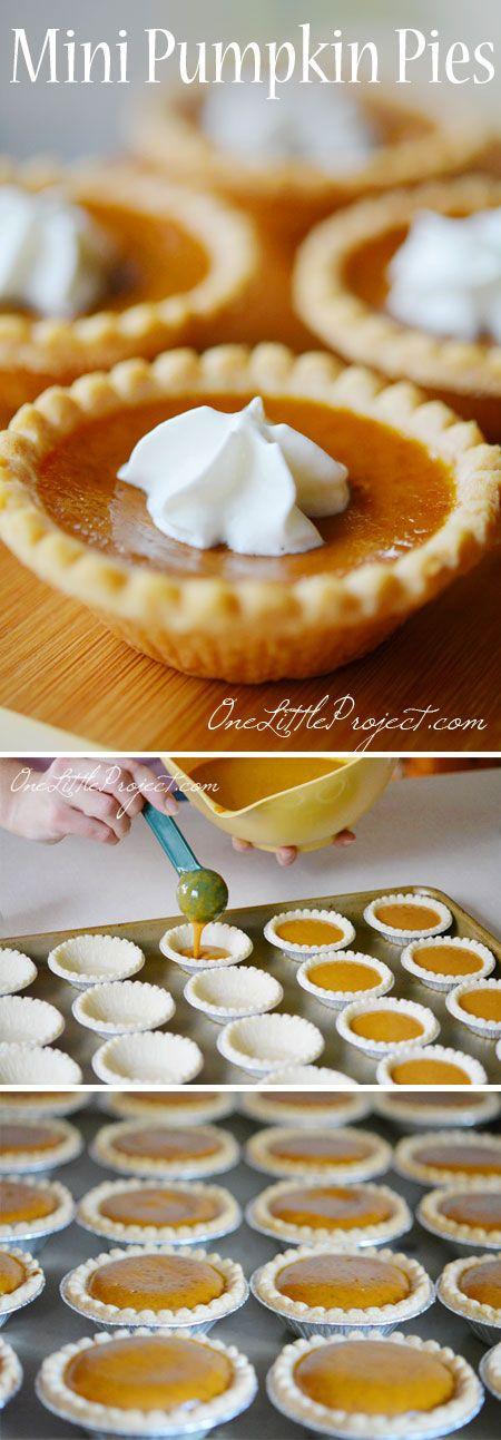 Thanksgiving Desserts: Mini Pumpkin Pies