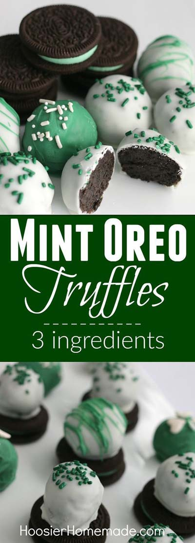 Truffle Dessert Recipes: Mint Oreo Truffles