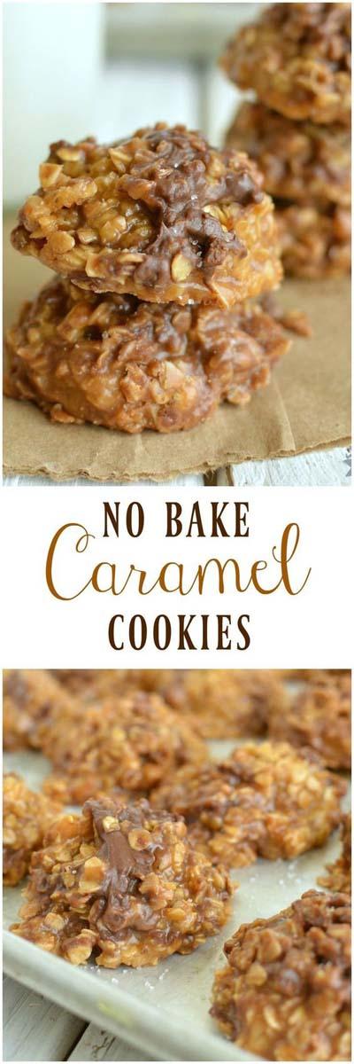 Easy caramel dessert recipes: No Bake Caramel Cookies