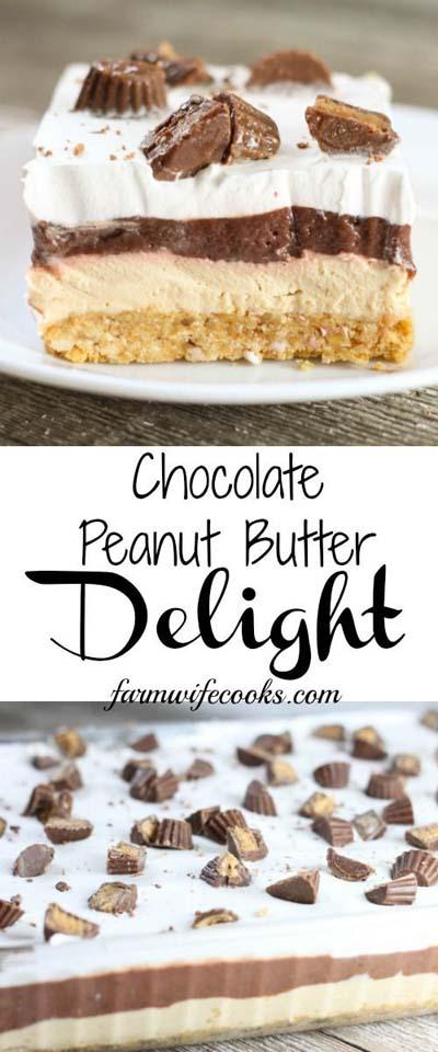 Peanut Butter Desserts: No Bake Chocolate Peanut Butter Delight