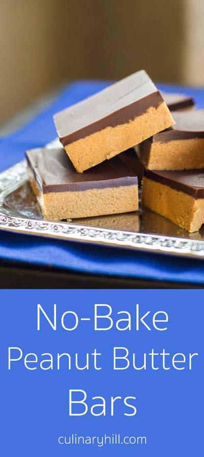 Peanut Butter Desserts: No Bake Peanut Butter Bars
