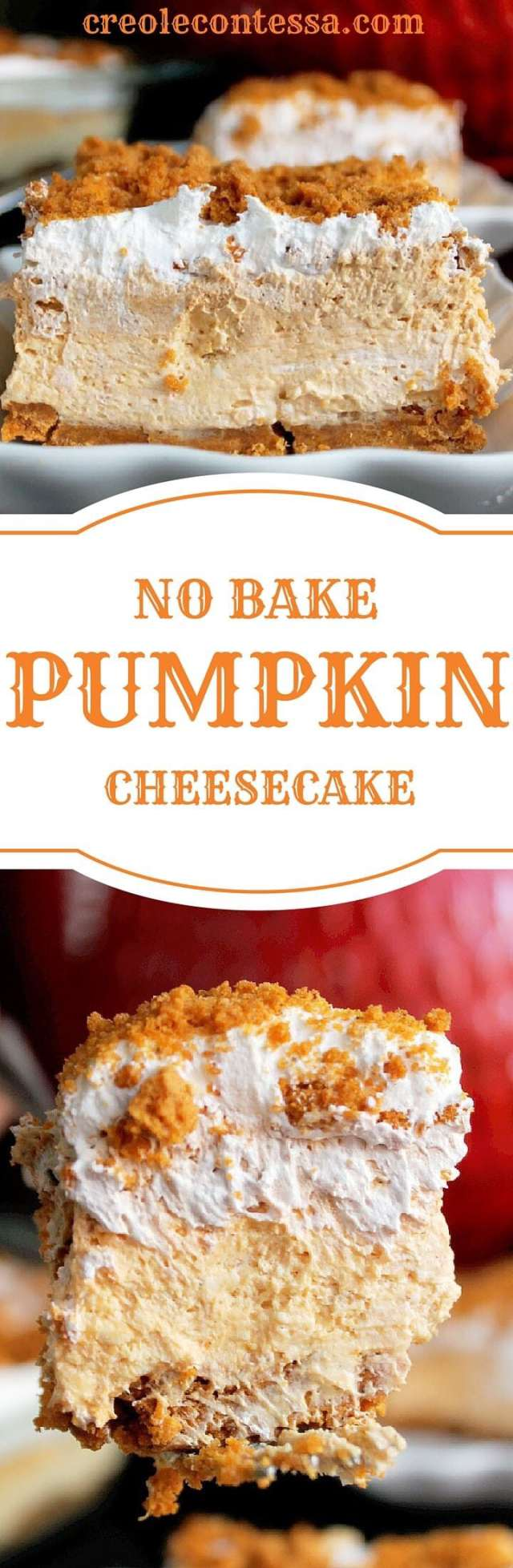 Pumpkin Spice Recipes: No Bake Pumpkin Cheesecake
