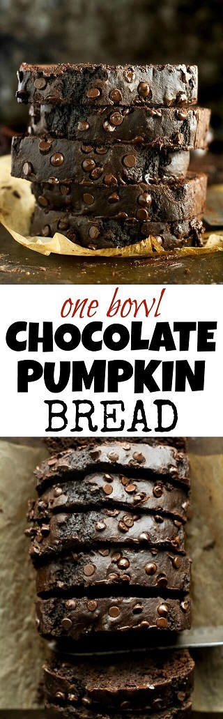 Pumpkin Spice Recipes: One Bowl Chocolate Pumpkin Bread