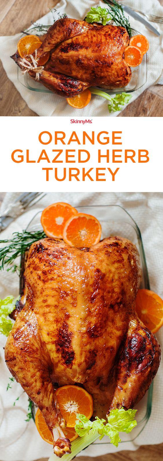 Thanksgiving turkey recipes: Orange Glazed Herb Turkey