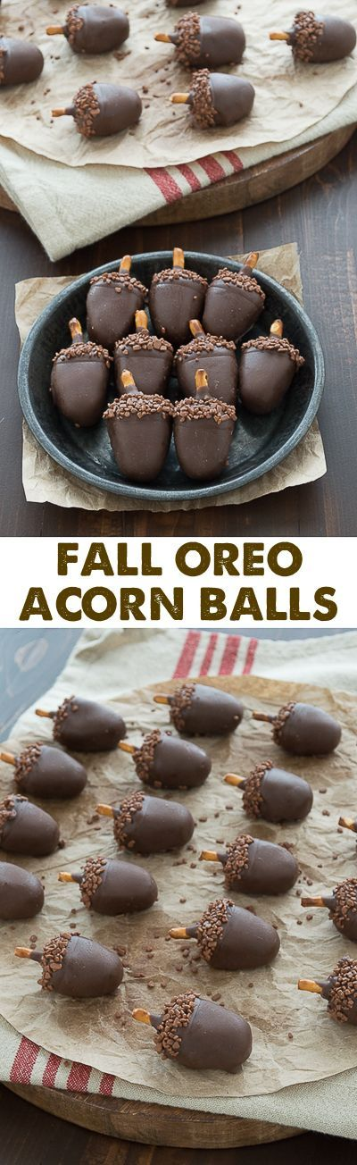 Thanksgiving Desserts: Oreo Acorn Balls