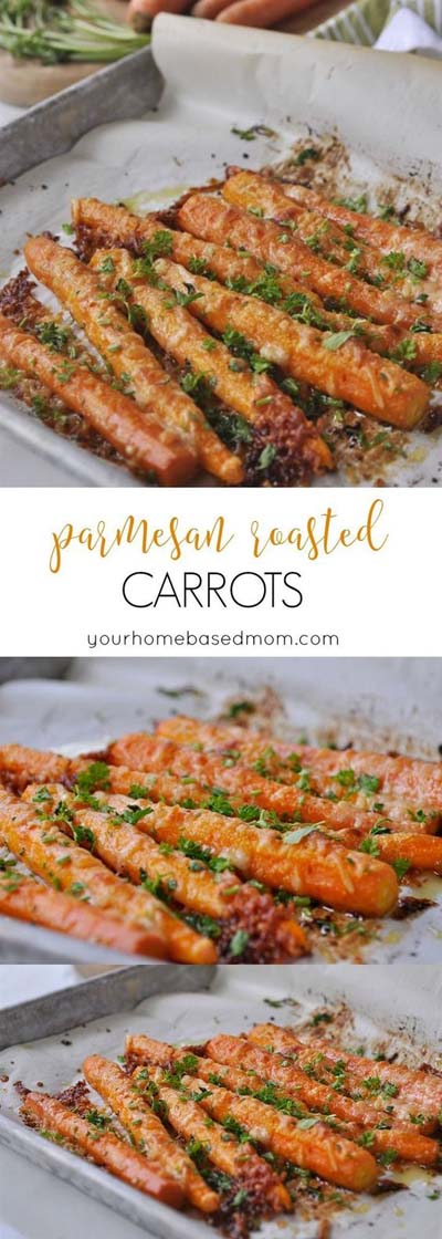 Christmas Dinner Recipes: Parmesan Roasted Carrots
