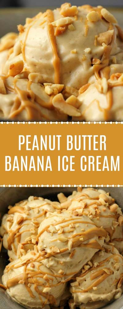 Peanut Butter Desserts: Peanut Butter Banana Ice Cream