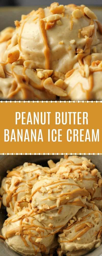 Peanut Butter Desserts: Peanut Butter Banana Ice Cream