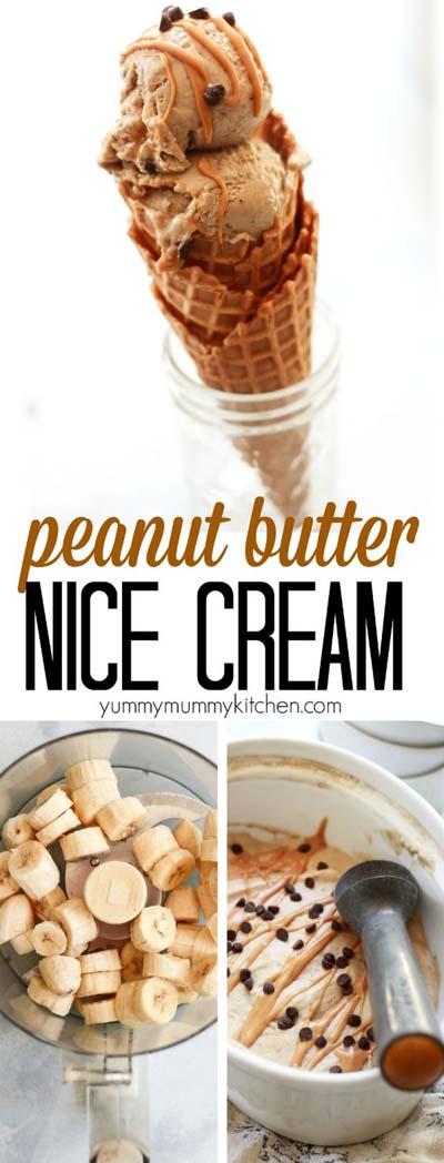 Peanut Butter Desserts: Peanut Butter Banana Nice Cream