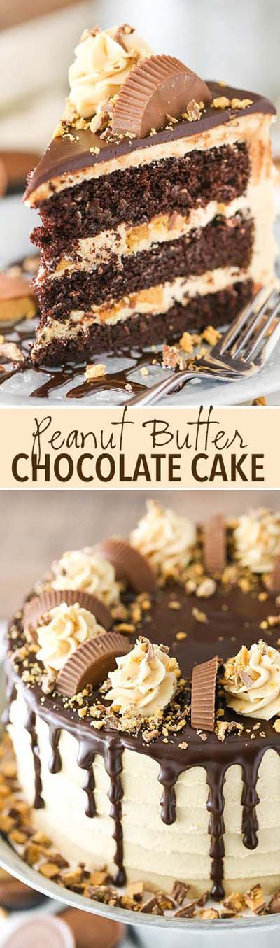 Peanut Butter Desserts: Peanut Butter Chocolate Layer Cake