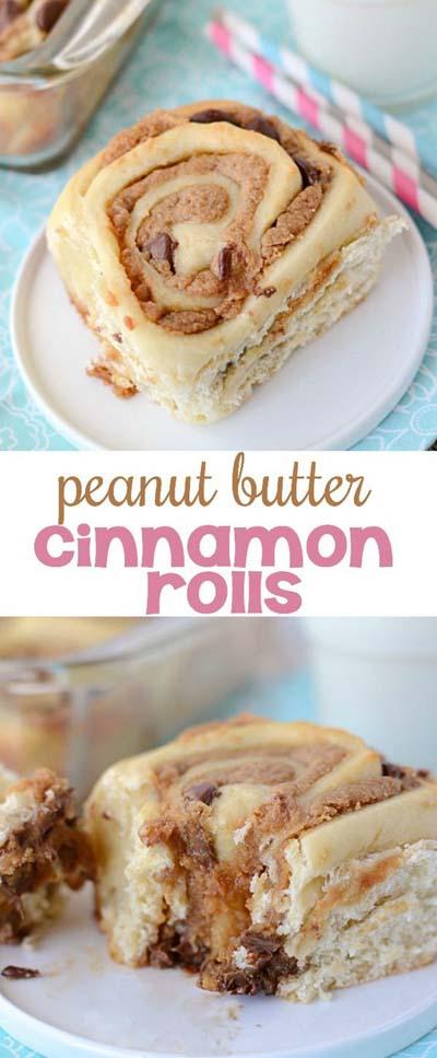 Peanut Butter Desserts: Peanut Butter Cinnamon Rolls