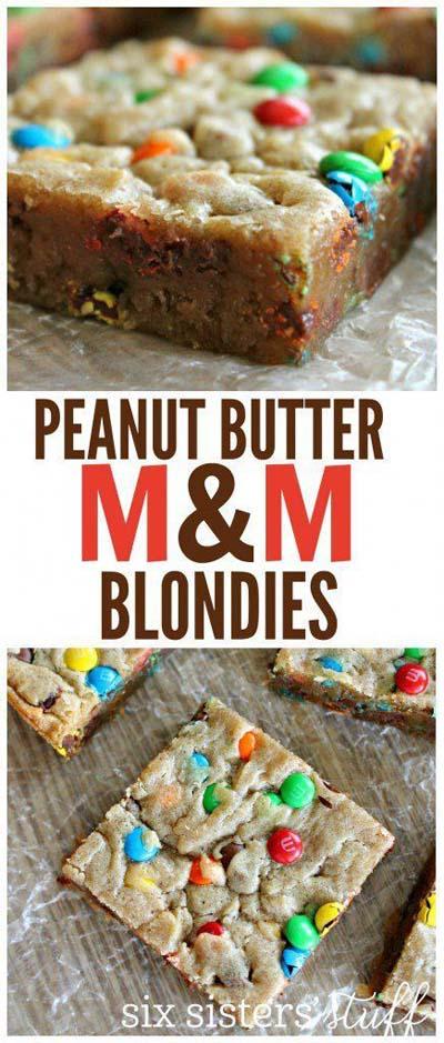 Peanut Butter Desserts: Peanut Butter M&m Blondies