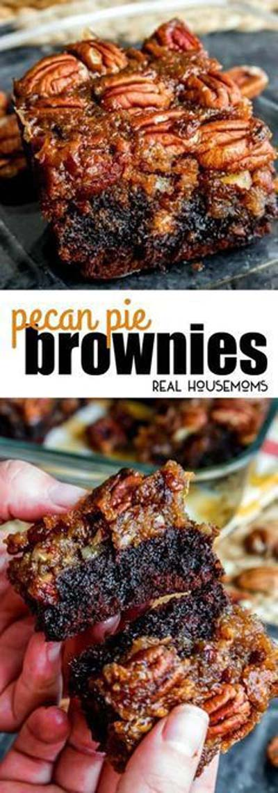 Christmas Brownie Recipes: Pecan Pie Brownies