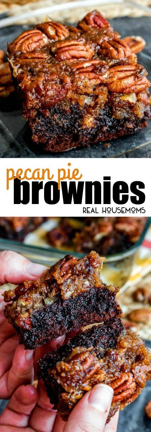 Thanksgiving Desserts: Pecan Pie Brownies