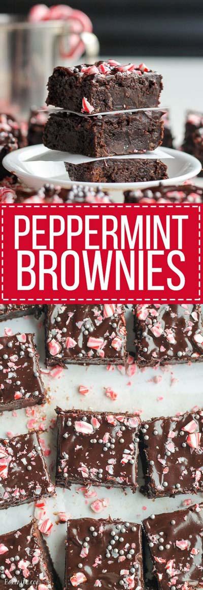 Christmas Brownie Recipes: Peppermint Brownies