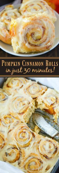 Thanksgiving Desserts: Pumpkin Cinnamon Rolls