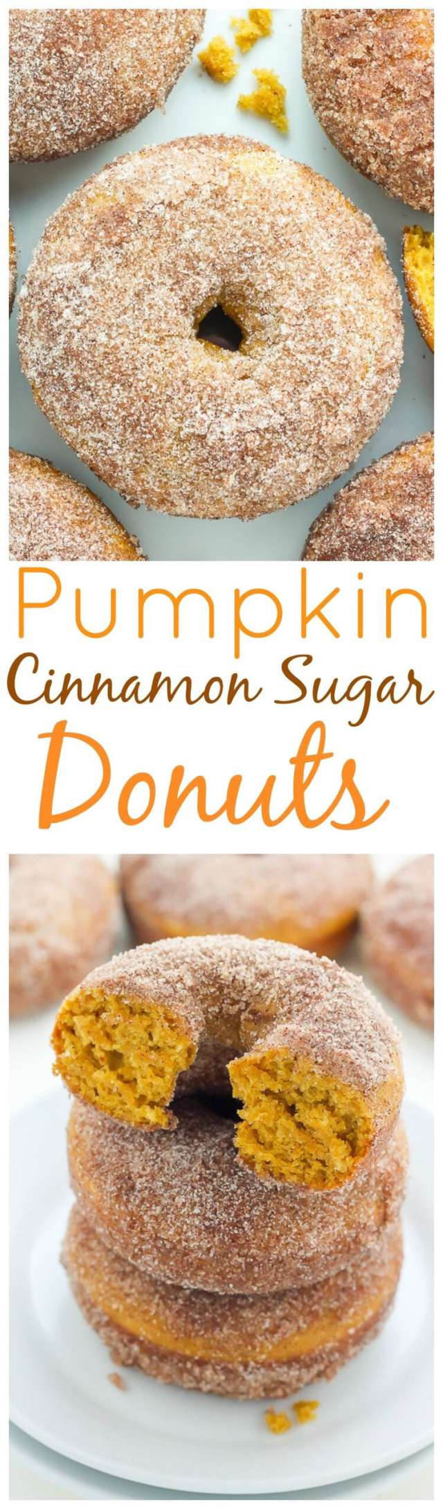 Pumpkin Spice Recipes: Pumpkin Cinnamon Sugar Donuts