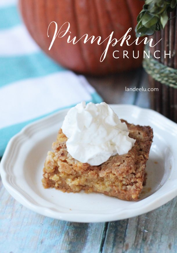 Thanksgiving Desserts: Pumpkin Crunch Recipe