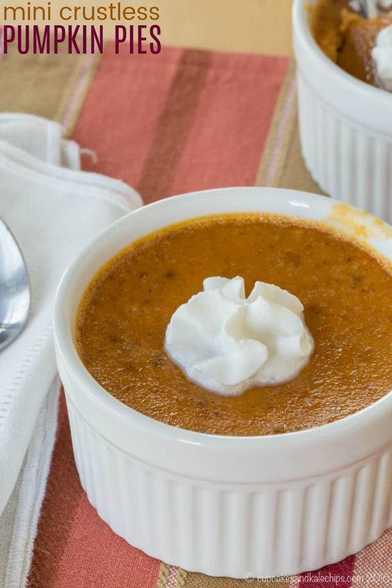 Thanksgiving Desserts: Pumpkin Custards