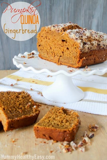 Christmas Gingerbread Recipes: Pumpkin Quinoa Gingerbread