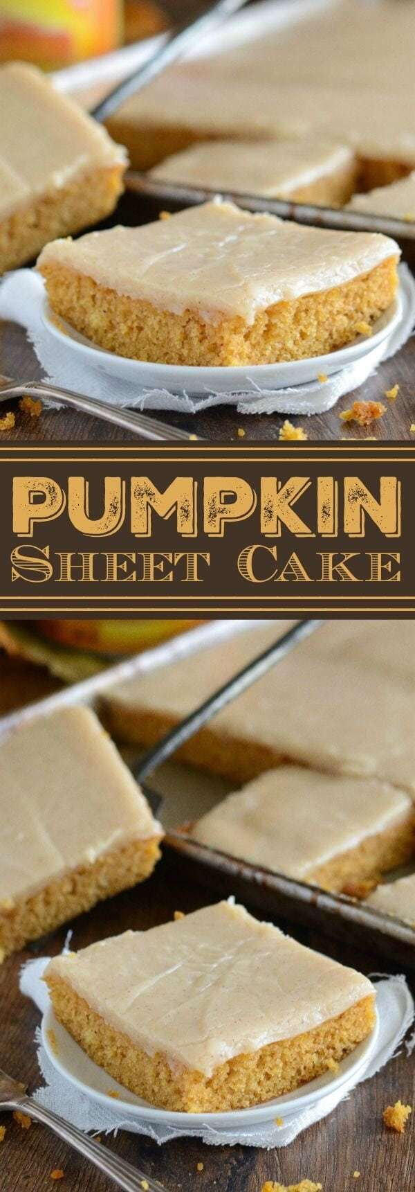 Pumpkin Spice Recipes: Pumpkin Sheet Cake