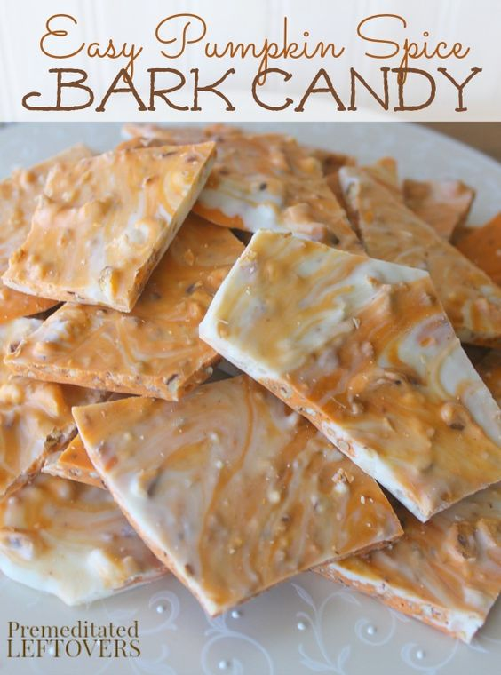 Pumpkin Spice Bark Candy