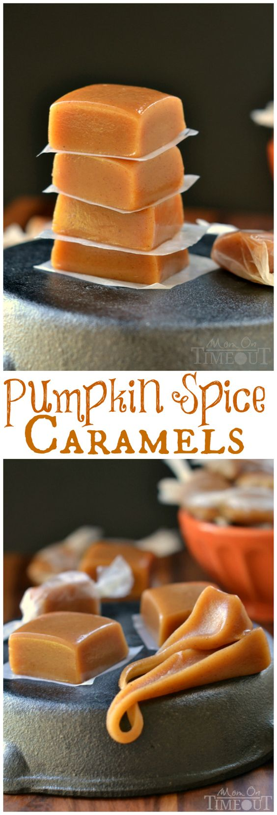 Pumpkin Spice Recipes: Pumpkin Spice Caramels