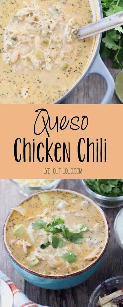 Chili Recipes: Queso Chicken Chili