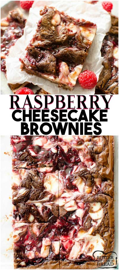 Christmas Brownie Recipes: Raspberry Cheesecake Brownies