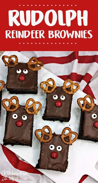 Christmas Brownie Recipes: Reindeer Brownies