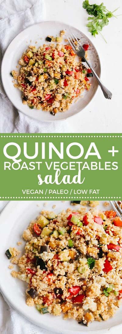 Healthy salad recipes: Roast Vegetable Quinoa Salad