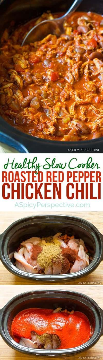 Chili Recipes: Roasted Red Pepper Chicken Chili Recipe