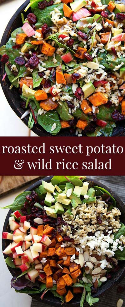 Healthy salad recipes: Roasted Sweet Potato And Wild Rice Salad